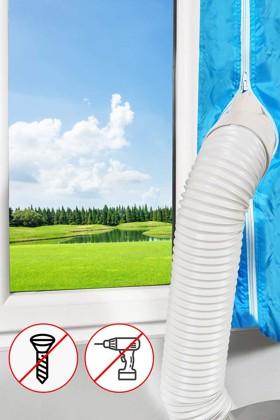 Aozzy ablakszigetelő függöny mobil klímákhoz - Szigetelő függöny - 1 x 400 cm