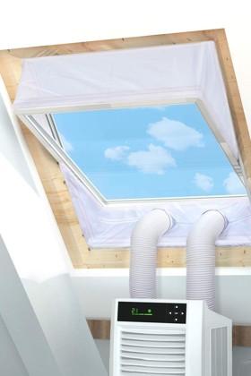 Rhodesy ablakszigetelő függöny mobil klímákhoz - 2 x 190 cm - 1 db